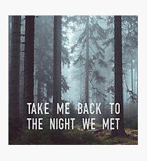 The Night We Met Photographic Print