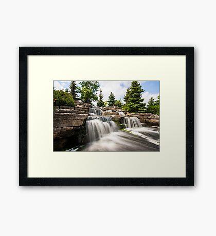 Richmond Green Waterfall Framed Print