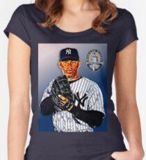 New York Yankees - Mariano Rivera Women's Fitted Scoop T-Shirt