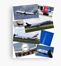 Aircraft Compilation Canvas Print