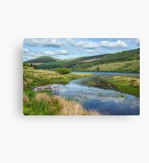 Talybont Reservoir Brecon Beacons Canvas Print