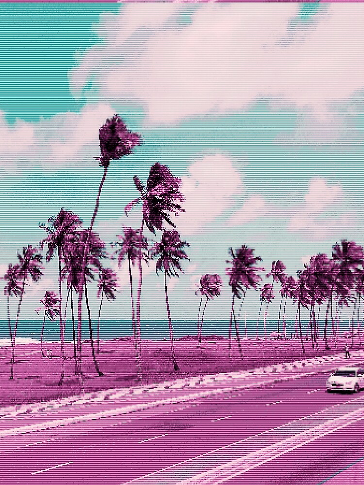 Vaporwave Sea Side Road by Alheak