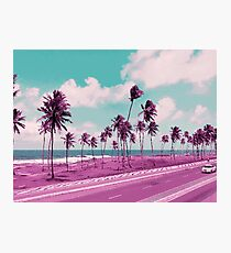 Vaporwave Sea Side Road Photographic Print