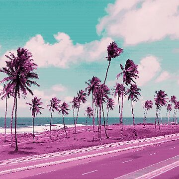 Vaporwave Sea Side Road de Alheak
