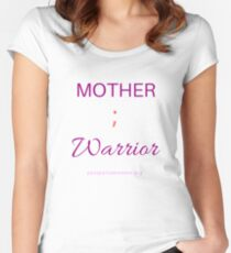 Mother ; Warrior (light) Women's Fitted Scoop T-Shirt