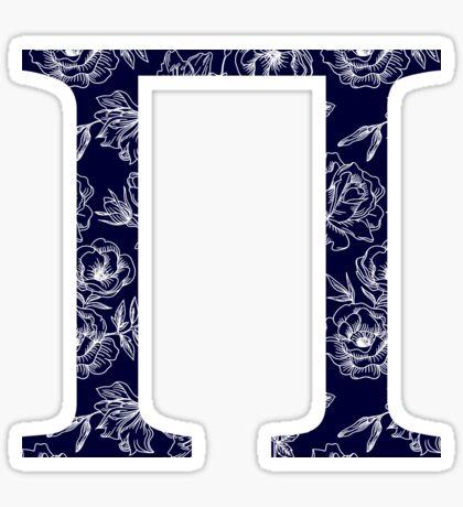 azul marino floral - pi Pegatina