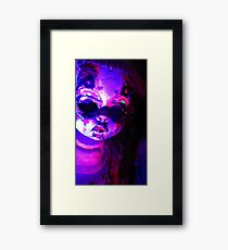 She came in through the crack in the sky Framed Print