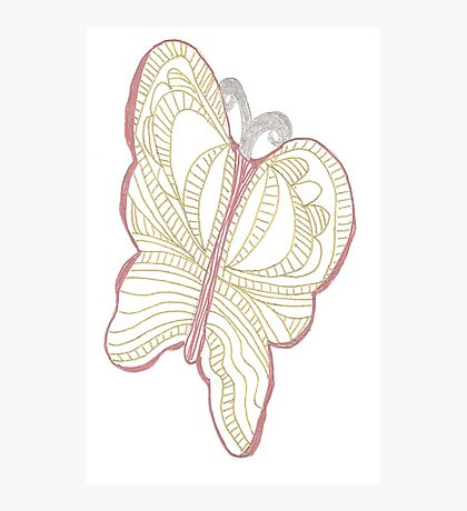 Metallic Butterfly Photographic Print