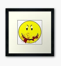 Zombie Smiley - T-shirt Framed Print