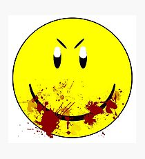 Zombie Smiley - T-shirt Photographic Print