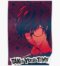 Persona 5 Protagonist Take Your Time Poster