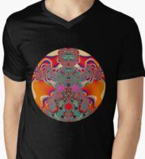 Red Meditation Mens V-Neck T-Shirt