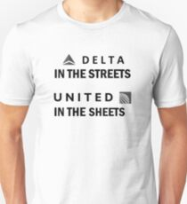 Delta-in-the-streets, United-in-the-sheets Unisex T-Shirt