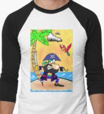 Captain Hook Pirate  Men's Baseball ¾ T-Shirt