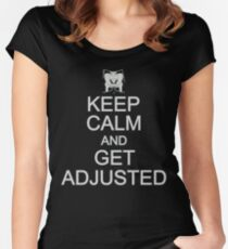 Keep Calm And Get Adjusted - Chiropractor Women's Fitted Scoop T-Shirt