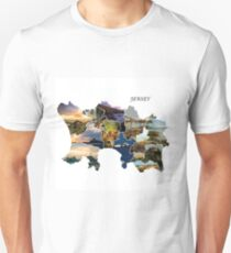 The Parishes - Jersey Map Unisex T-Shirt