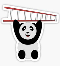 WWF Panda Vintage Ladder  Sticker