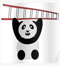 WWF Panda Vintage Ladder  Poster