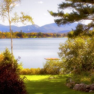 Autumnal Glance on Mirror Lake - Lake Placid by Photograph2u