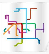Mini Metros - Hong Kong Poster