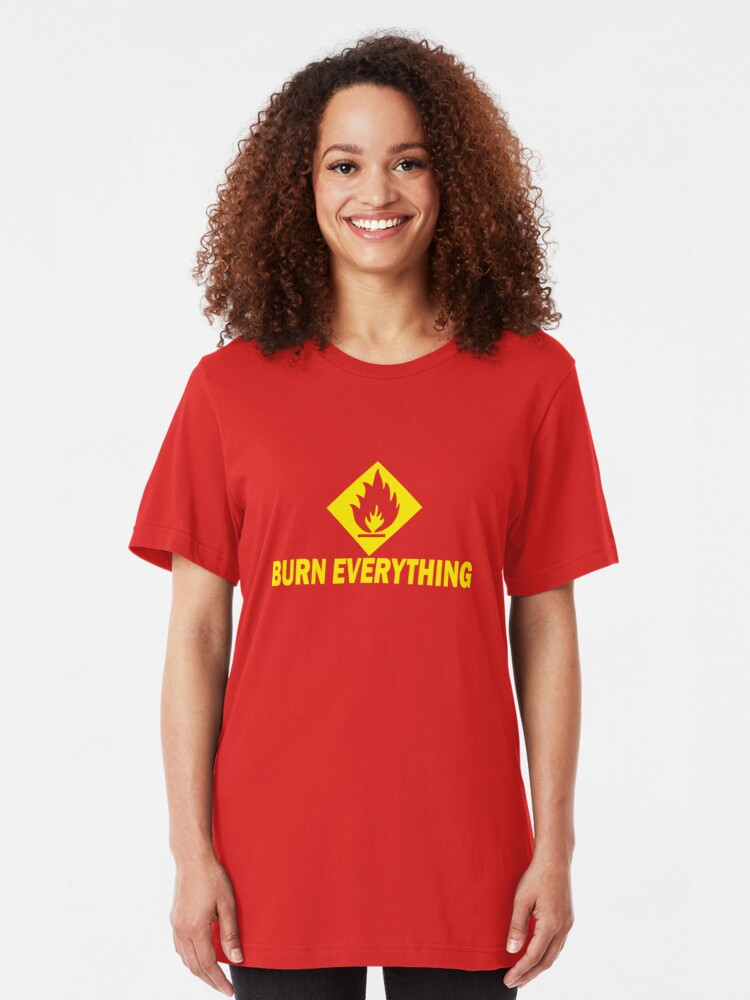 Alternate view of Burn Everything Slim Fit T-Shirt