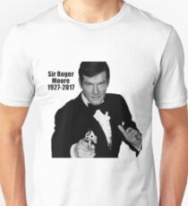 RIP Sir Roger Moore Unisex T-Shirt