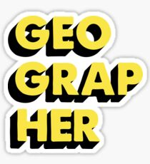 Geographer Sticker