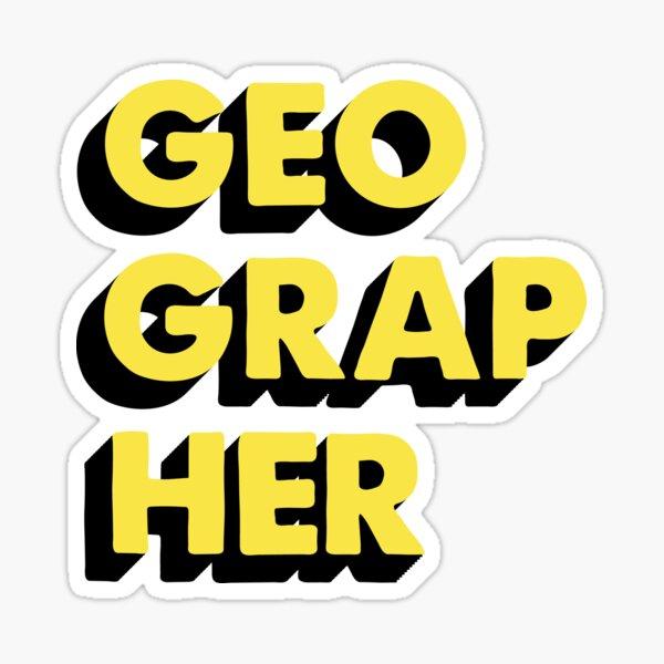 Geographer Sticker