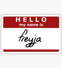 Hello, my name is Freyja! Sticker