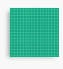 Small Stripe Christmas Holly Green Tartan Check Plaid Pattern Canvas Print