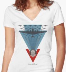 Roosevelt's War Planes Women's Fitted V-Neck T-Shirt