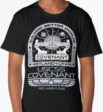 Alien Covenant mission - uscss covenant Long T-Shirt
