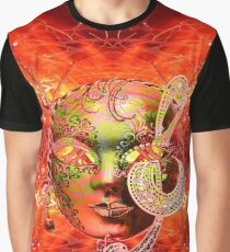 Fire Mask Graphic T-Shirt