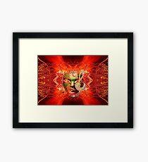 Fire Mask Framed Print