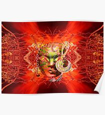 Fire Mask Poster