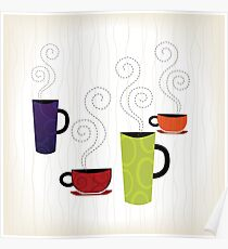 Retro 60s Coffee Poster