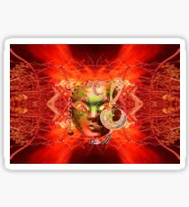 Fire Mask Sticker