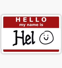 Hello, my name is Hel! Sticker