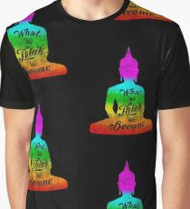What We Think We Become Buddah Quote Cool Gift Tee T Shirt Graphic T-Shirt