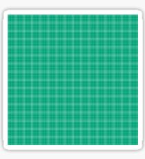 Large Stripe Christmas Holly Green Tartan Check Plaid Design Sticker