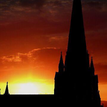 sunset by cynthiab