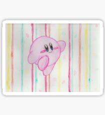 Kirby watercolor Sticker