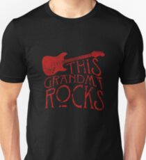 This Grandma Rocks Guitar Music Love Gift Tee T Shirt Unisex T-Shirt
