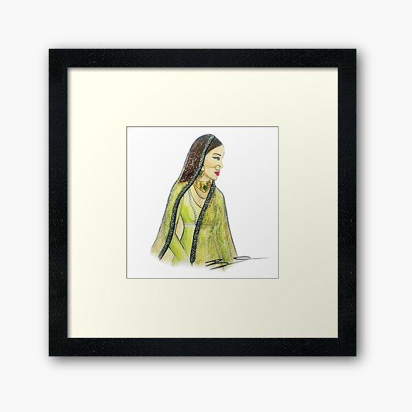 Mughal Bibi Framed Art Print