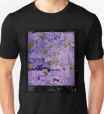 USGS TOPO Map Florida FL Crystal Lake 345707 1982 24000 Inverted Unisex T-Shirt