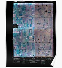 USGS TOPO Map Iowa IA Rush Lake East 20100427 TM Inverted Poster
