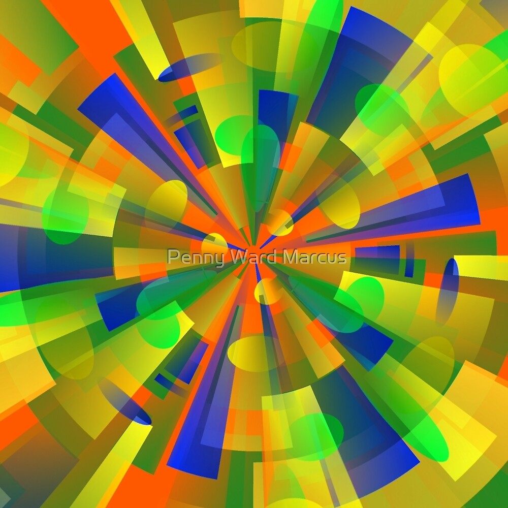 Color Burst Kaleidoscope by Penny Ward Marcus