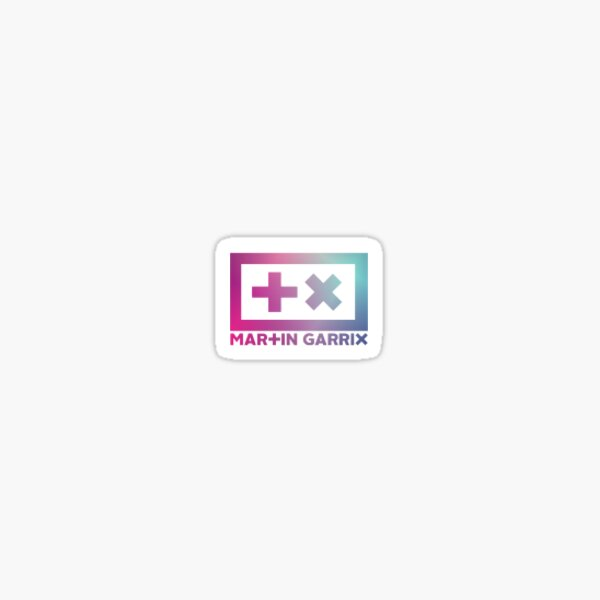 Martin Garrix - logotipo rosa / azul Pegatina