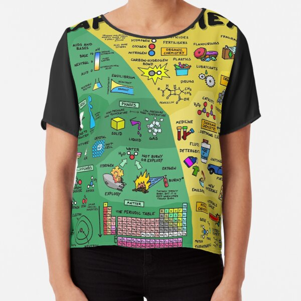 The Map of Chemistry Chiffon Top
