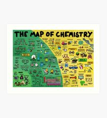 The Map of Chemistry Art Print